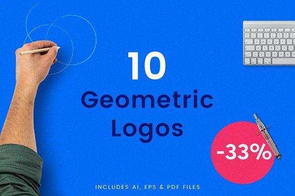 10 Bold Geometric Logos - 33% OFF by THE WERK on @creativemarket