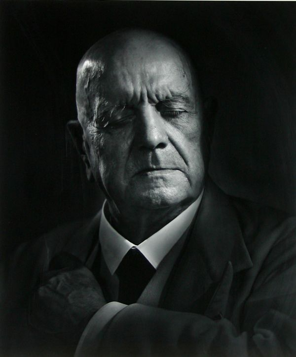 Jean Sibelius,  Finnish composer and violinist . by  Yousuf Karsh