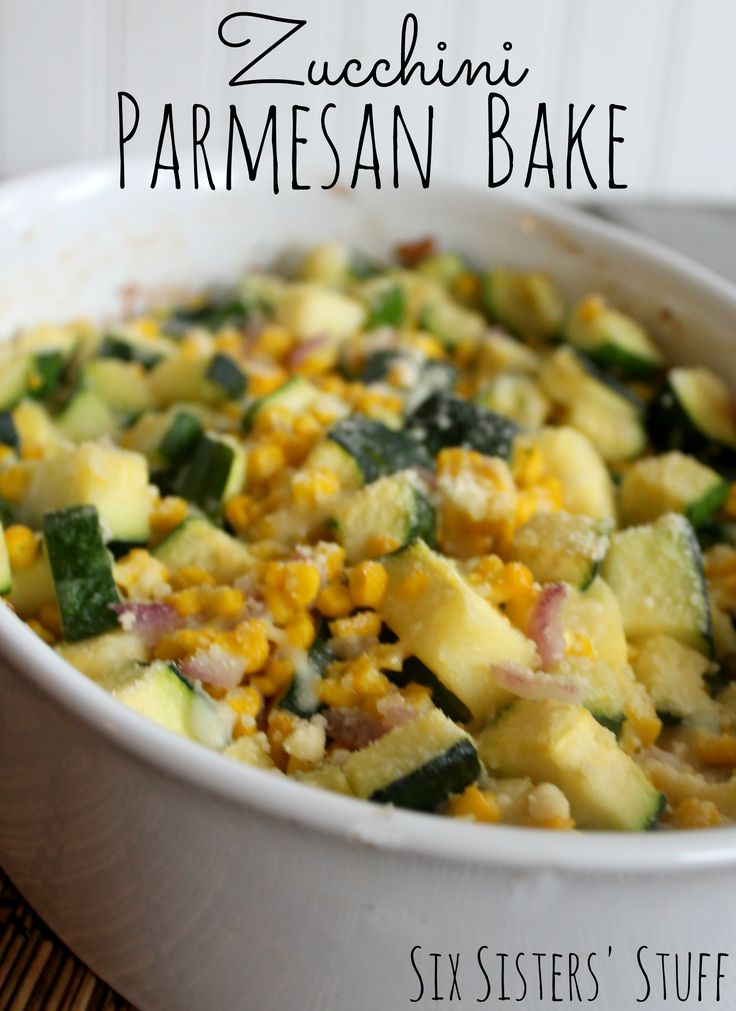 Zucchini Parmesan Bake Recipe...zucchini is my fav veggie can't wait to try this