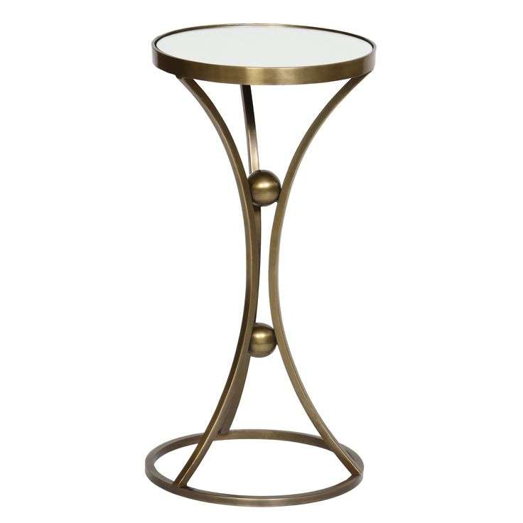 Brass accent tables, entry table and mirror accent table and ...