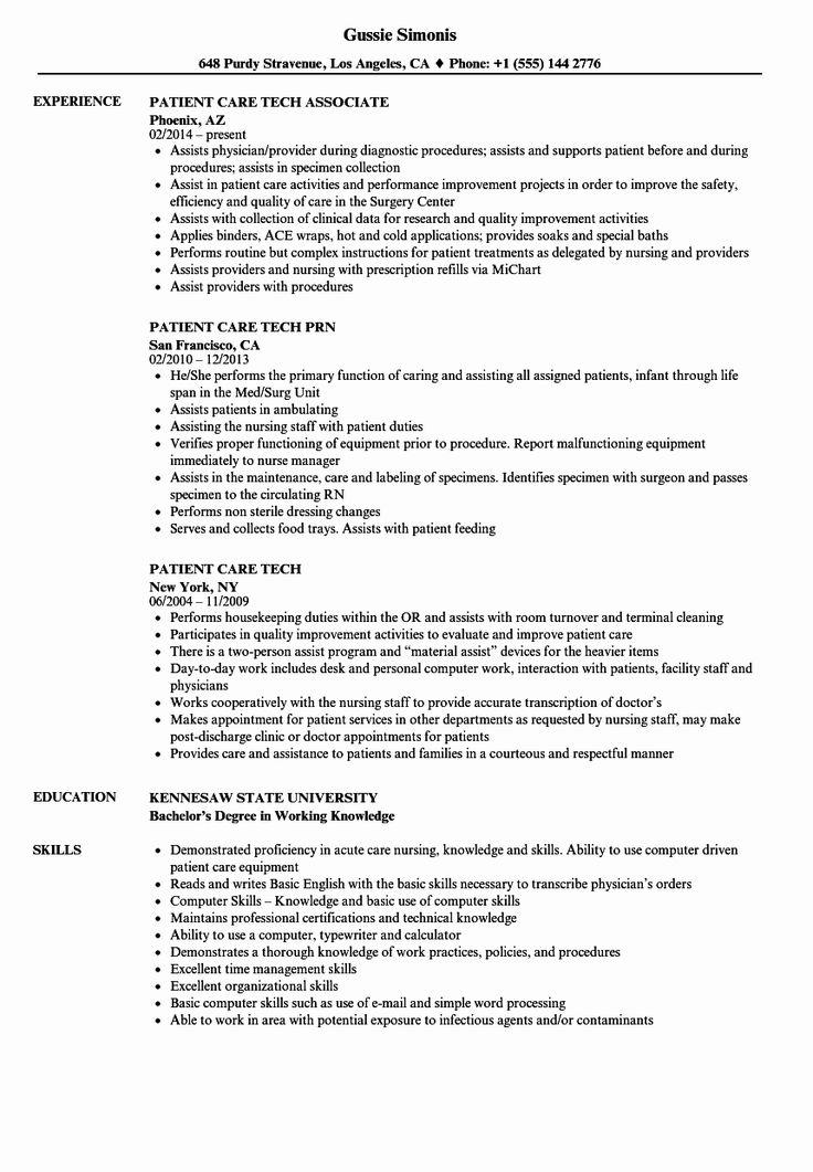 27 Patient Care Coordinator Job Description Resume in 2020