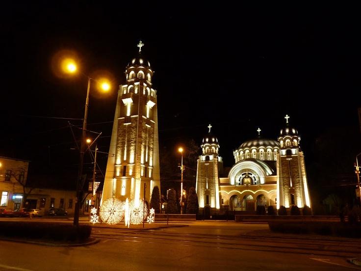 Timişoara _ Biserica din Küttle noaptea