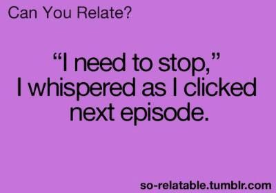 bahahah this reminds me of when i'm catching up on my overseas shows like Geordie Shore and Skins...  #tv #funny