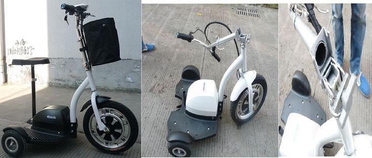 tre ruote elettrico 350w pieghevole con sellino estraibile