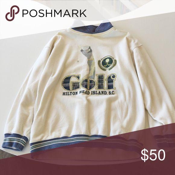 Vintage golf sweater Vintage By Milk. Considers office. #vinatgesweater #golf #menssweater #womenssweater Sweaters Crewneck
