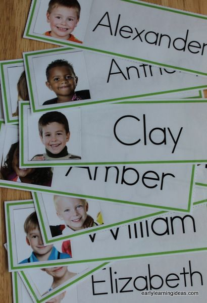 Adding your kids' names and pictures to your word wall is a great way to create interest.  Make name cards for your classroom word wall with the free template.  Directions are included in the article.  These would be great for a preschool, pre-k, kindergarten, early childhood classroom.  They can also be used for other name activities and labeling cubbies etc. throughout your classroom.