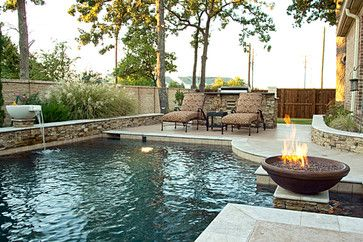 Dry Stack - Custom Swimming Pool - North Richland Hills, TX - Rustic - Pool - other metro - by One Specialty Landscape Design, Pools & Hardscape