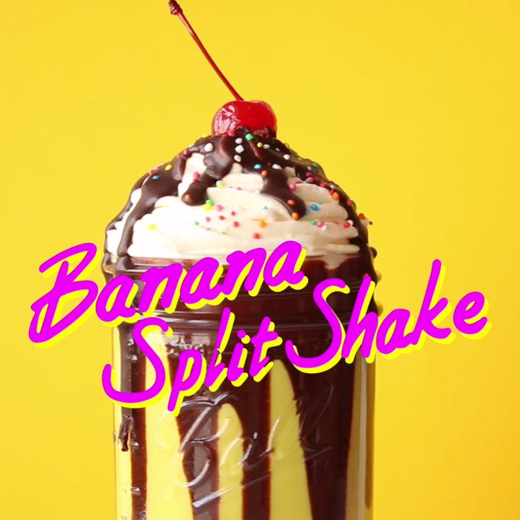 An ice cream classic in milkshake form makes the perfect sweet treat or dessert. Banana milkshake with chocolate sauce, topped with a swirl of whipped cream.