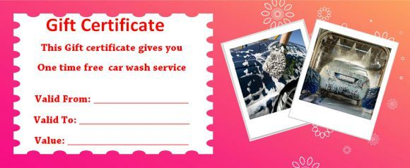 16 Personalized Auto Detailing Gift Certificate Templates Demplates Gift Certificate Template Gift Certificates Certificate Templates