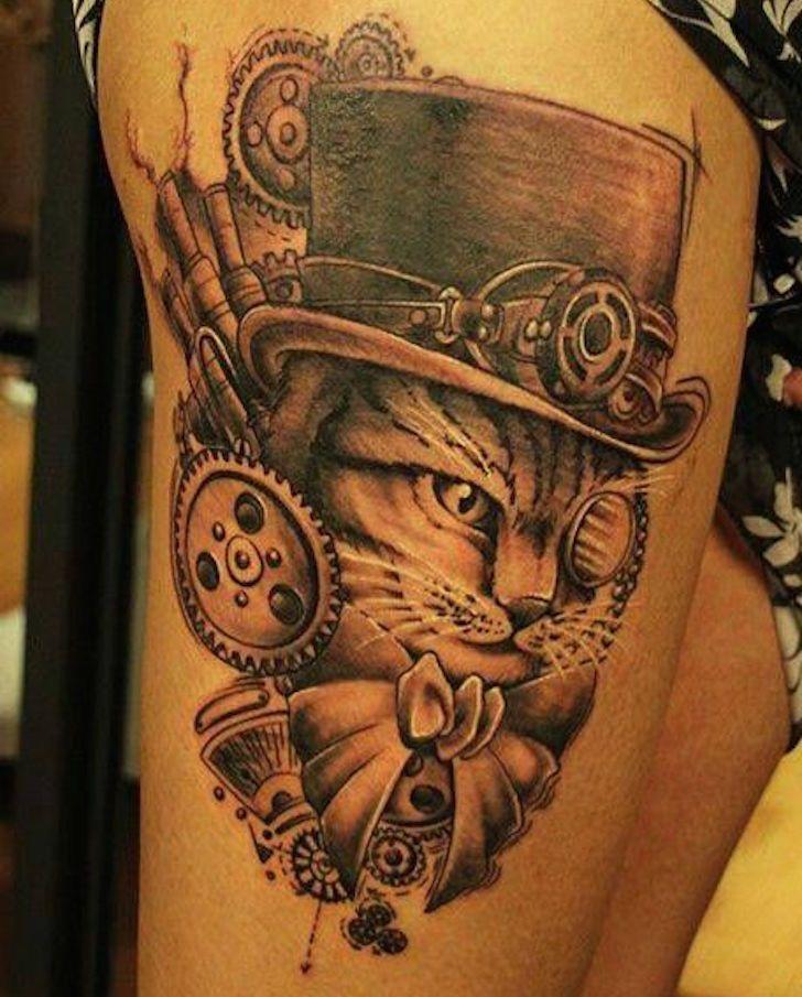 Vintage Hat Tattoos: 25+ Best Ideas About Steampunk Tattoo Design On Pinterest