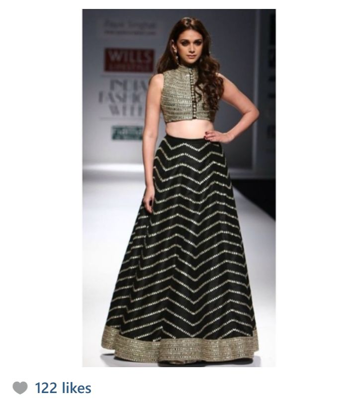 In love with this Payal Singhal creation. High waist lehengas are all the rage this season. Traditional attire.