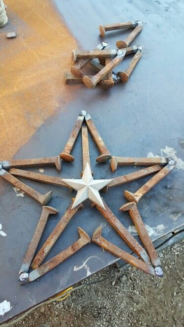 Railroad spike star