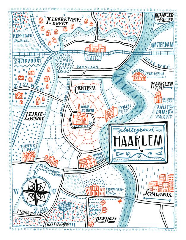 Plattegrond Haarlem