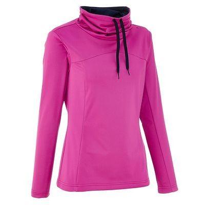 Senderismo Mujer Deportes de Montaña - Camiseta Forclaz 100 warm mujer violeta QUECHUA - Deportes