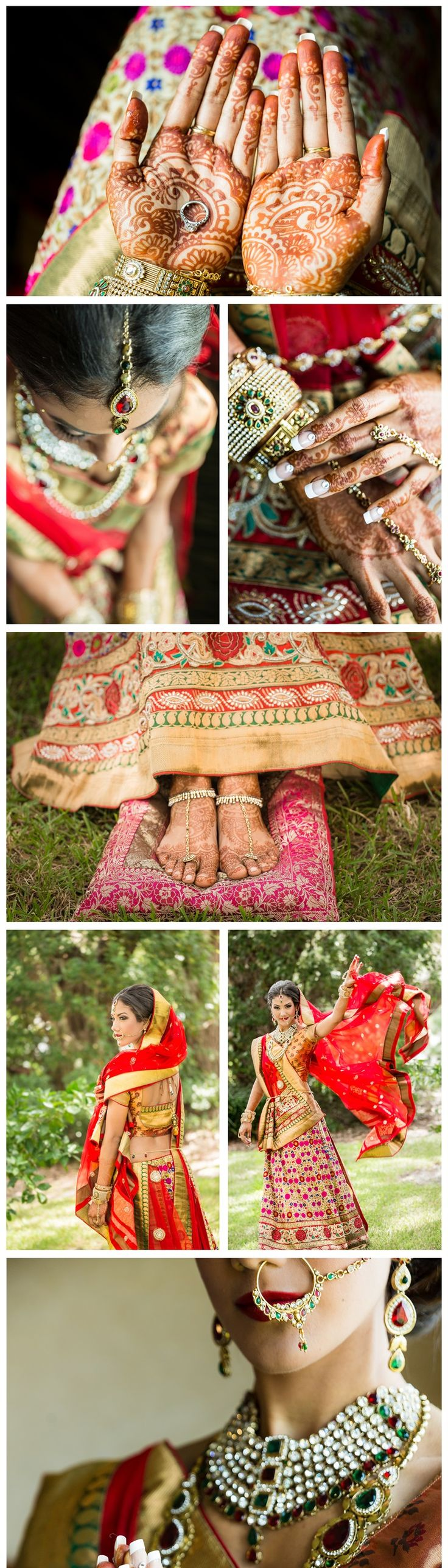 Indian bride + henna + jewelry prettiness| styled shoot | Rising Lotus Photography
