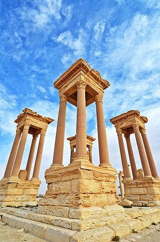 Palmyra, in Syria. let us hope the current civil war ends soon and that no harm will come to these ruins.