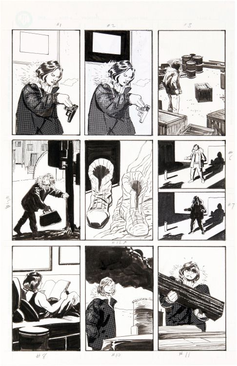 Original page by Steve Lieber from Whiteout published by Oni... Original page by Steve Lieber from Whiteout published by Oni Press 1998.