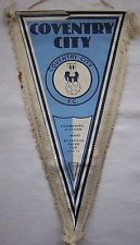 Orig.pennant COVENTRY CITY FC - UEFA Fairs Cup 1970/71 - 40 cm ! VERY RARE