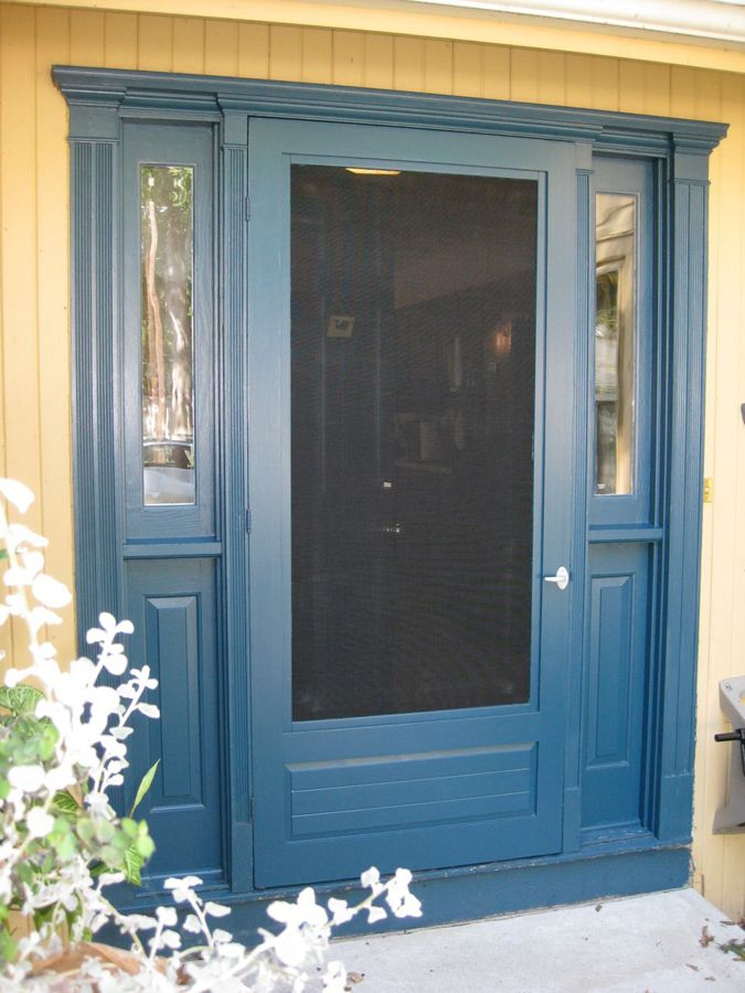 25 best ideas about wood storm doors on pinterest for Double entry storm doors