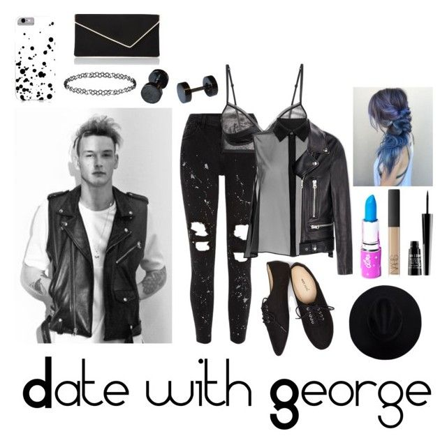 """""""Date With George Daniel from the 1975"""" by ebgleek ❤ liked on Polyvore featuring River Island, La Perla, McQ by Alexander McQueen, Wet Seal, Acne Studios, Lime Crime, NARS Cosmetics, Dorothy Perkins, Lord & Berry and L.K.Bennett"""