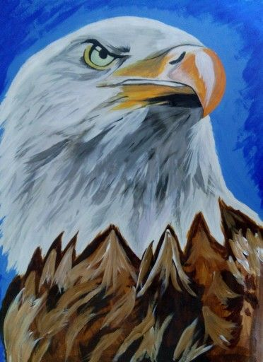 Acrylic american eagle painting