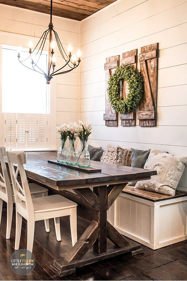 How To Build Simple And Inexpensive Decorative Shutters Stylish Home Decor Farmhouse Dining Farmhouse Kitchen Decor