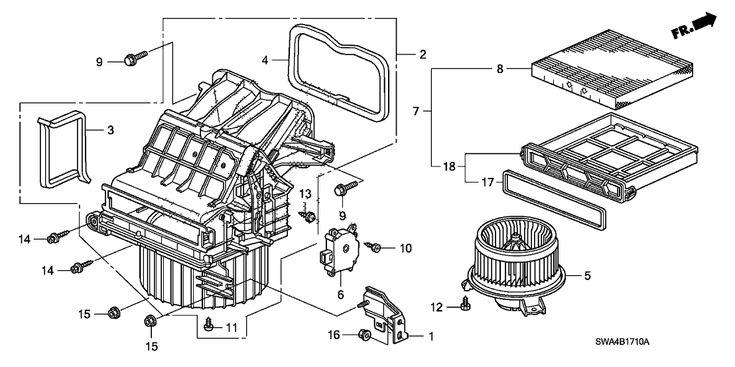 2009 Honda Cr V 5 Door Lx 2wd Ka 5at Heater Blower Honda Cr Cr V Honda