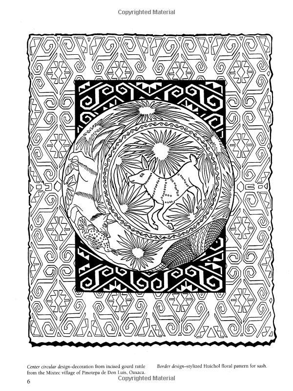 Amazon Mexican Folk Art Coloring Book Dover Design
