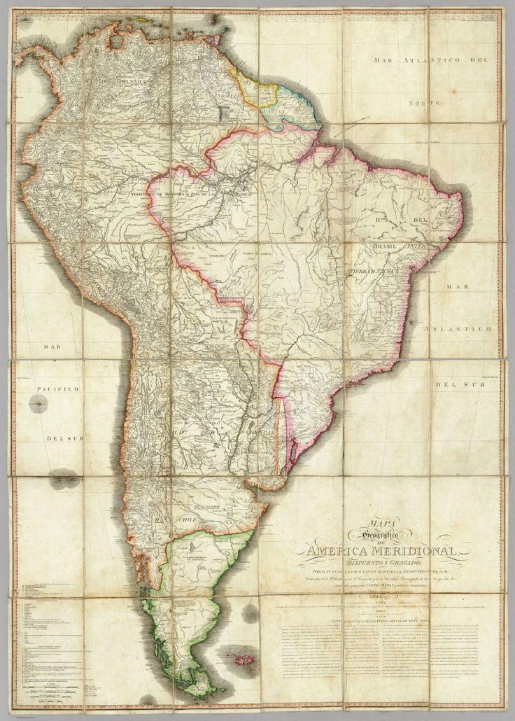 Juan de la Cruz Cano y Olmedilla. Mapa geográfico de America Meridional.