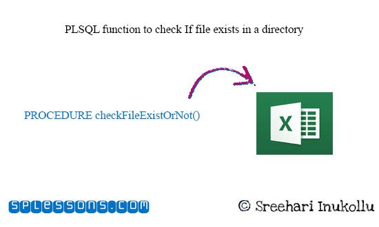 If you get a chance to work with PLSQL functions and file handling in your work then this tutorial will definitely help full. Here we will see with PLSQL function to check If file exists in a directory.