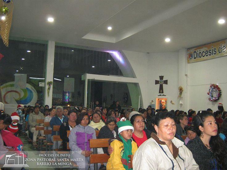 Participación de la comunidad de la Novena Navideña en la Zona Pastoral Santa Marta Barrio La Minga
