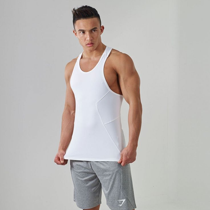 Gymshark DRY Element Gym Stringer - White - New Releases - Featured - Mens