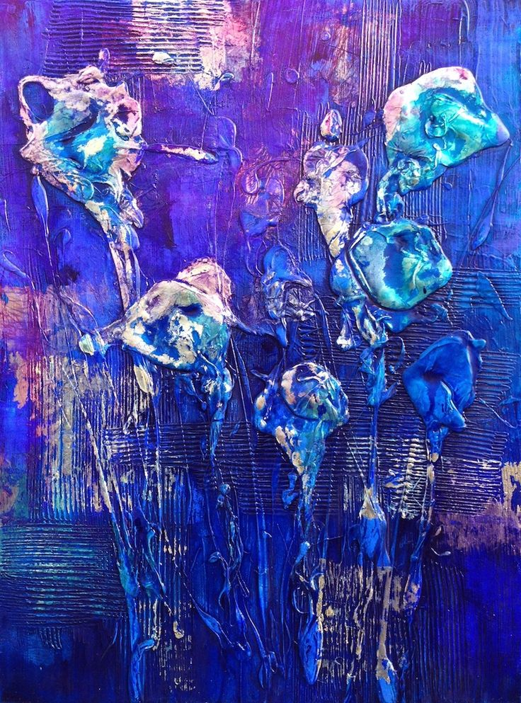 'LilyWater' by Mel Sebastian * SOLD * 80 x 100cm * Mixed Media on Canvas * Framed in Silver Float * www.art101.com.au #art #mixedmedia #brisbane #painting #contemporary #jamesstbne