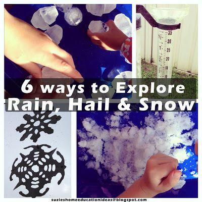 6 ways to Explore Rain, Hail and Snow plus printable worksheet