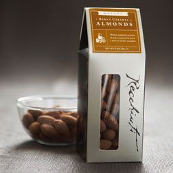 Recchiuti Burnt Caramel Almonds - Divine- thin caramel and chocolate and saltiness.