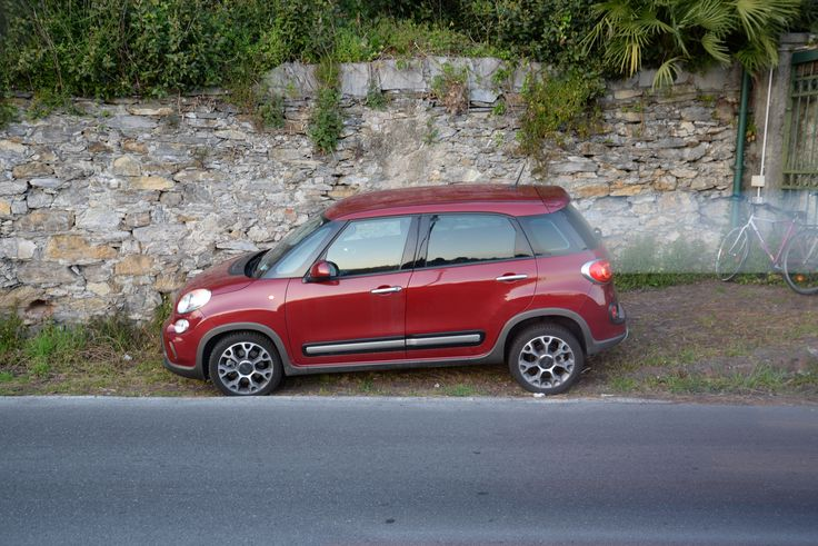#Fiat500L was Fiat's attempt in 2011 to transform a basic #500 in something closer to a Range Rover, so it could go off track.. My mother would not agree with me parking her car in a hole, where it was stuck in mud for hours, though. Luckily she never found out.