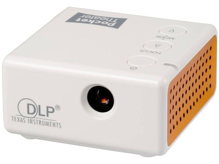 手のひらサイズの小型プロジェクター『Pocket Theater』。Miracast/AirPlay両対応
