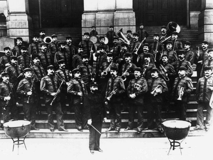 "Created in 1798, the Marine Corps Band was called ""The President's Own"" by President Jefferson during his inaugural ball. Since then, the band has played at every presidential inauguration. Here's the band in 1893."