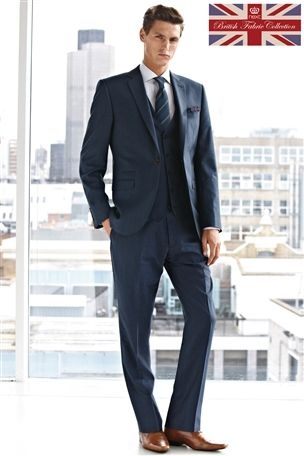 Buy Blue Tailored Fit Suit: Jacket from the Next UK online shop