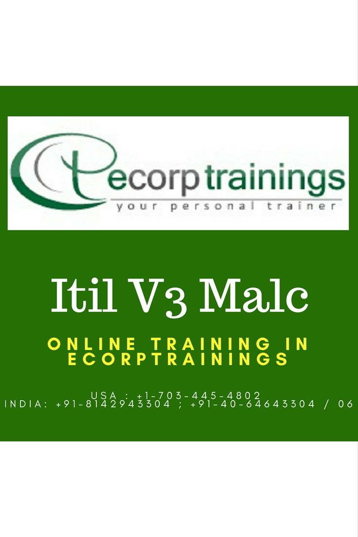 Best 25 online training courses ideas on pinterest university best institute for learn itil malc online training in hyderabad india ecorptrainings provides excellent classroom training for itil malc certification xflitez Images