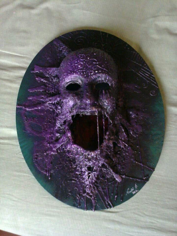 Maschera su tela