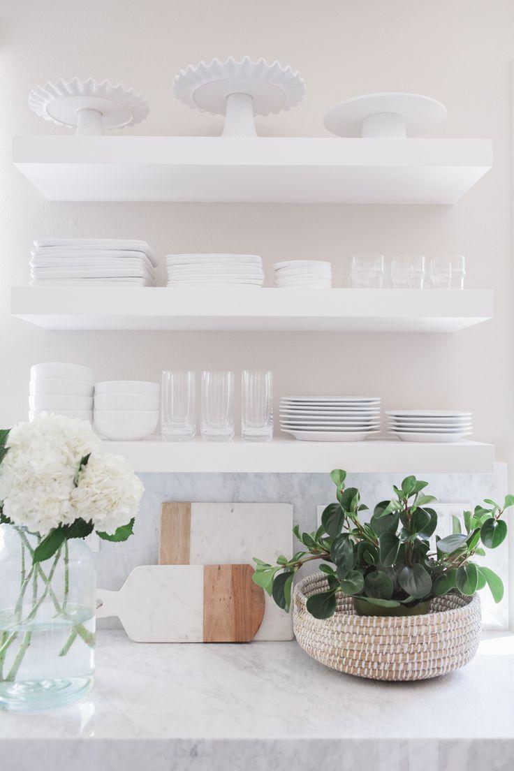 25 best ideas about white floating shelves on pinterest. Black Bedroom Furniture Sets. Home Design Ideas