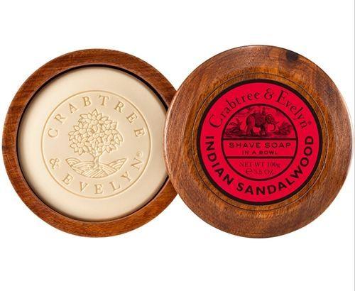 Crabtree & Evelyn Men Indian Sandalwood - Shave Soap in Wooden Bowl 100g fra Blush. Om denne nettbutikken: http://nettbutikknytt.no/blush-no/