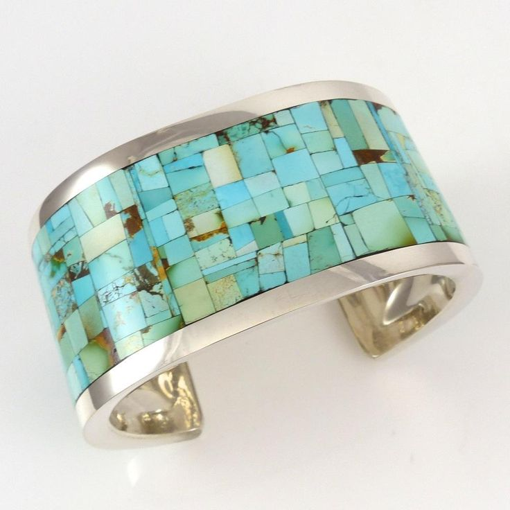 Turquoise Inlay Cuff by Colin Coonsis - Garland's Indian Jewelry