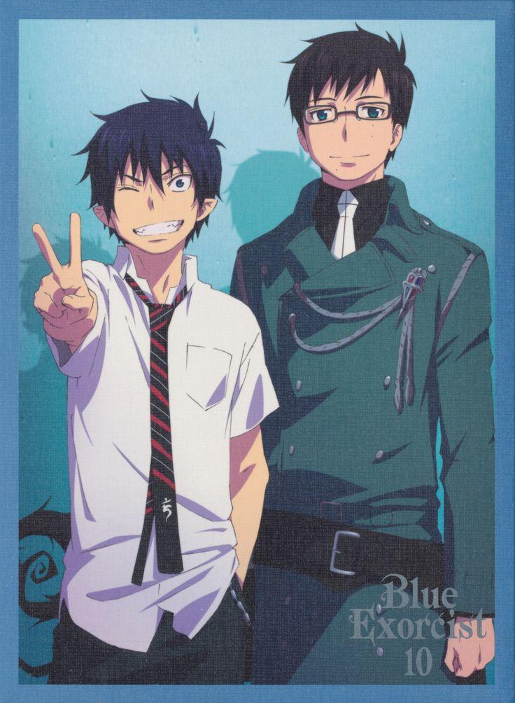 Rin and Yukio, Blue Exorcist, i don't get why Yukio looks