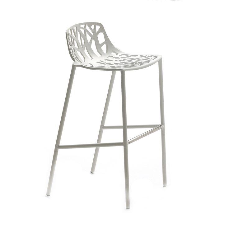 Forest+Barstol+65cm,+Hvit,+Fast+Design
