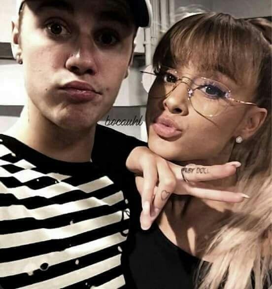 Justin Bieber and Ariana Grand