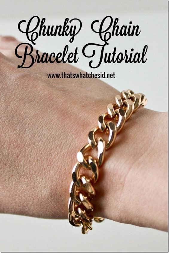 202 best diy jewelry images on pinterest bead jewelry beaded easily make your own chunky chain bracelet with this great tutorial it will be the solutioingenieria Images