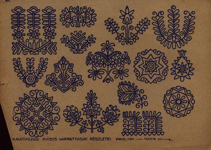 38 Best Hungarian Motifs Images On Pinterest Hungarian Embroidery