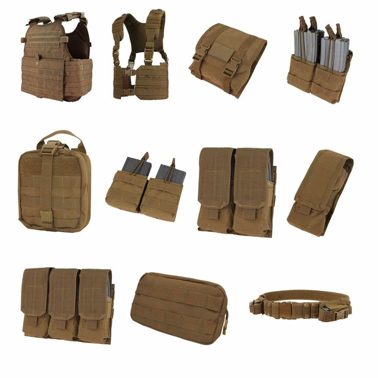 Tactical Molle Pouches 177900: Coyote Brown Condor Molle Pouches Plate Carriers Vests BUY IT NOW ONLY: $69.95